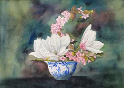 110 - Pot de fleurs by Micheline Partikian